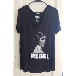 "Star Wars Princess Leia ""Rebel"" Shirt"